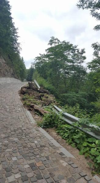 Ca la romani: Un drum de 9 milioane de euro spre o cetate antica s-a surpat dupa nici 3 luni (Galerie foto)