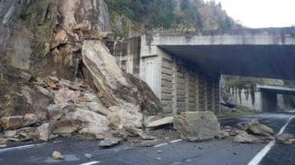 Cadere de pietre pe Transfagarasan (Video)