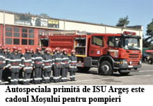 Cadou de Craciun, pentru pompieri