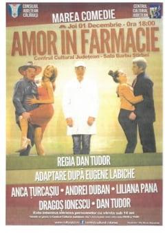 """Calarasenii sunt invitati la spectacolul de teatru """"Amor in farmacie"""""""