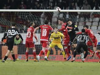 Calcule complete in Liga 1. Cum poate ajunge Dinamo Bucuresti in play-off, dupa victoria cu Sepsi