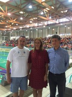 Camelia Potec a dat startul Campionatelor Nationale de natatie de la Brasov!