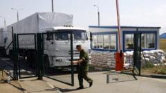 Camioanele rusilor au venit aproape goale si s-au intors pline din Ucraina