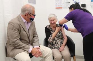 Campania de vaccinare a inceput in Australia. Premierul Scott Morrison, printre primii australieni imunizati - VIDEO