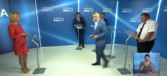 Campania electorala din Republica Moldova se incinge: un candidat a aruncat cu o sticla de apa in timpul unei dezbateri televizate VIDEO