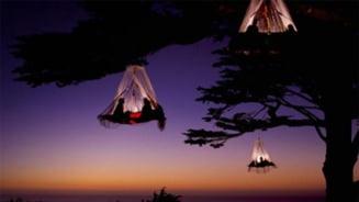 Campat extrem, in copaci - cat te costa sa dormi in corturi suspendate (Galerie foto)