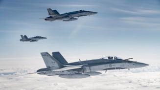 Canada trimite in Romania 135 de militari si 5 avioane multirol F/A-18 Hornet pentru misiuni aeriene NATO