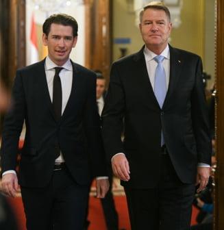 Cancelarul Austriei ii multumeste lui Iohannis ca are grija de statul de drept