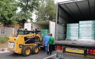 Cantitate importanta de apa, donata Spitalului Judetean Mehedinti