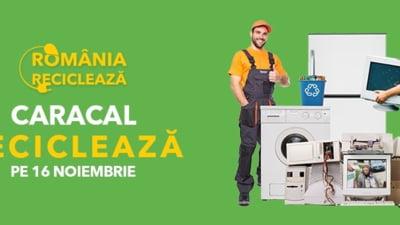 """Caracal participa in campania """"Romania Recicleaza"""", pe 16 noiembrie"""