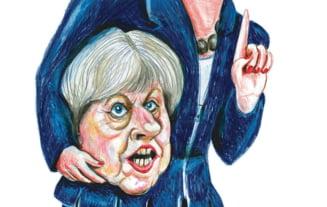 Caricatura cu Theresa May decapitata, pe coperta Charlie Hebdo, in ziua alegerilor din Marea Britanie (Foto)