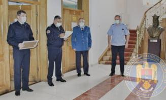 Cariera militara incheiata cu onoare, dupa 26 de ani la Inspectoratul Judetean de Jandarmi Dambovita