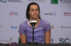 Caroline Garcia explica eliminarea de la Turneul Campioanelor