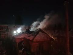 Casa in flacari: un giurgiuvean a suferit arsuri grave! (FOTO)