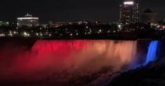 Cascada Niagara va fi iluminata in culorile drapelului romanesc de 1 decembrie