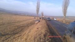 Cascadorie pe asfalt in apropiere de Laza