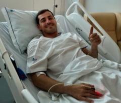 Casillas, din nou la antrenamente la jumatate de an dupa ce a suferit un infarct