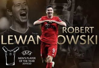 Castigatorii premiilor UEFA pentru editia trecuta a Ligii Campionilor. Polonezul Lewandowski, ales jucatorul anului