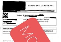Cat costa un test PCR negativ falsificat. Un barbat din Bucuresti care falsifica astfel de documente a fost retinut de politie