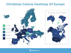 Cate calorii are masa de Craciun pe glob - Cum sta Romania