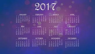 Cate zile libere vom avea in 2017