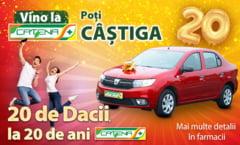 Catena ofera prin tragere la sorti 20 de autoturisme Dacia, pe 24 decembrie