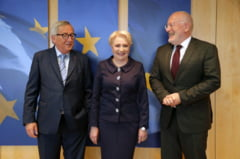 Ce a discutat Dancila cu Timmermans si Juncker: Romania renunta la reformele controversate din sistemul judiciar