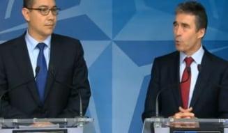 Ce a discutat Ponta la Bruxelles cu secretarul general NATO
