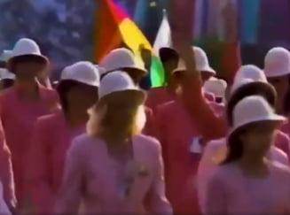 Ce am fost și ce am ajuns! Imagini de colecție cu 80 000 de americani care se ridică în picioare și aplaudă sportivii români la Jocurile Olimpice din 1984. Atunci am fost pe locul 2 în clasamentul pe medalii