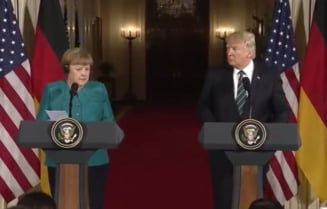 Ce au spus Trump si Merkel dupa prima intalnire la Casa Alba