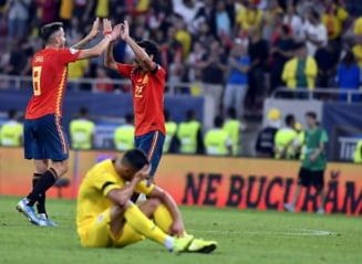 """Ce note au primit """"tricolorii"""" pentru evolutia din meciul cu Spania: Tatarusanu, cel mai bun. Contra n-a trecut testul"""