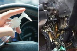 Ce pot provoca sticlele de dezinfectanti, daca sunt lasate in masina pe timp de canicula?