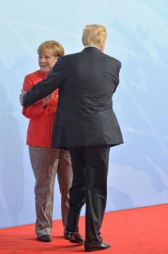 Ce s-a vazut la intalnirea dintre Merkel si Trump: Tensiune si amabilitate fortata. Niciun pas inainte