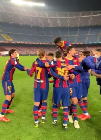 Ce seara de vis in Catalunia! FC Barcelona a intors miraculos rezultatul din Cupa Spaniei cu Sevilla si s-a calificat in finala