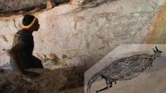 Cea mai veche opera de arta rupestra australiana infatiseaza un cangur. Pictura aborigena dateaza de 17.000 de ani