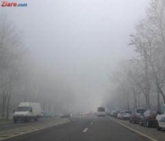 Ceata densa pe Autostrada Soarelui si pe doua drumuri nationale. Se circula cu dificultate