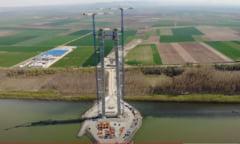Cel mai scump pod din Romania intra intr-o noua faza a constructiei. Lucrare nemaivazuta din vremea lui Anghel Saligny VIDEO