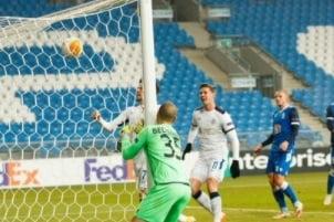 Cel mai simplu gol din cariera lui Ianis Hagi. Romanul a inscris in Europa League de pe linia portii