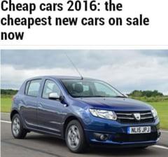 Cele mai ieftine masini noi pe care le poti cumpara in 2016: Doua modele Dacia in Top 5