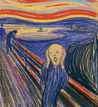 """Celebrul tablou """"Tipatul"""" al pictorului Edward Munch, scos la licitatie"""