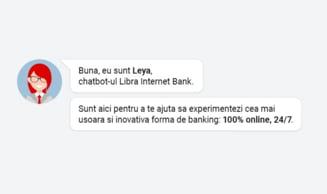 Chatbot-ul Leya, dezvoltat de Libra Internet Bank, a fost utilizat de peste 10.000 de ori in numai 4 luni