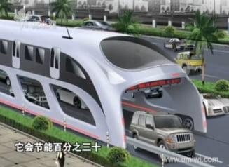 Chinezii fac un autobuz pe sub care vor circula masini (Video)