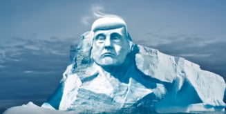 Chipul lui Trump va fi sculptat intr-un ghetar care se topeste. Poate asa intelege ca incalzirea globala e reala