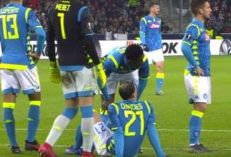 """Chiriches s-a """"rupt"""" din nou! Capitanul Romaniei a iesit accidentat in meciul Salzburg - Napoli"""