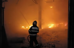 Cinci ore si jumatate de lupta cu focul la Transport Public