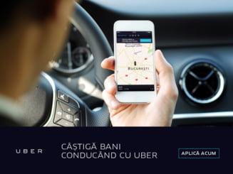 Cine are masina personala in Bucuresti poate sa castige bani in plus conducand cu Uber