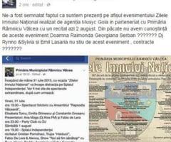 Cine e de vina ca Emill Lasaria si DJ Rynno&Silvia nu au cantat la Zilele Imnului din RAMNICU VALCEA?