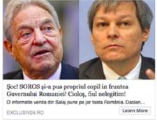 Ciolos, fiul lui Soros stire falsa