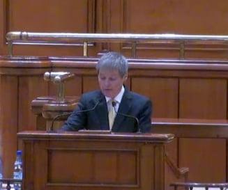 Ciolos se scuza in fata Parlamentului: Programul de guvernare a fost pregatit in doar cateva zile