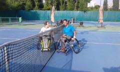 Ciprian Anton, triplu campion national la tenis in scaun rulant